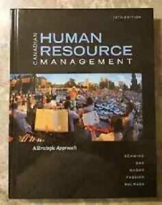 Canadian human resource management 10th canadian edition