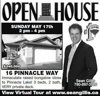 OPEN HOUSE! Sunday May 17, 2-4pm