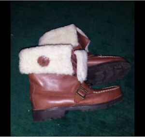 Size 6.5 Polo by Ralph Lauren Ultra Hi Shearling Leather Boots London Ontario image 4