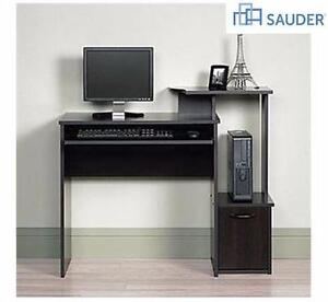 "NEW* SAUDER COMPUTER DESK CINNAMON CHERRY 39.606"" x 19.449"" x 34.016"" HOME OFFICE FURNITURE STUDY  92717087"