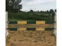 Show Jumping Planks - Green & Yellow - solid condition