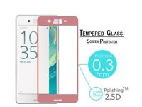 3D Curved Full Cover Tempered Glass Film For Sony Xperia phone X, XA, XA1, X Performance GOLD