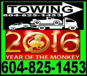 *LUCKY TOWING* TOW TRUCK 604)825-1453 RICHMOND,LADNER,VANCOUVER