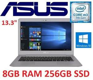 NEW ASUS ZENBOOK 13.3 LAPTOP PC 248769772 M3 7Y30 256GB SSD 8GB RAM WIN 10 OS COMPUTER