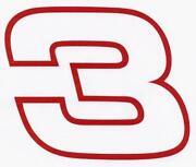 Dale Earnhardt 3 Decal
