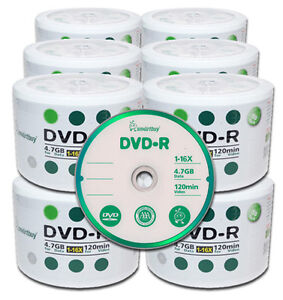 100pcs SmartBuy DVD-R 16X Logo Blank Media Disc Duplicators DVDR Recordable Pro