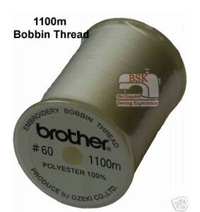 Brother Embroidery Machine Bobbin Thread 1100m - WHITE