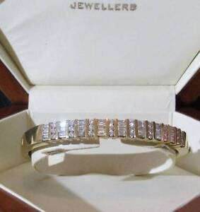 DIAMOND 18ct YELLOW GOLD BRACELET Dural Hornsby Area Preview