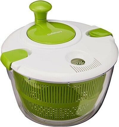 NEW Cuisinart Salad Spinner, Green and White Freeshipping