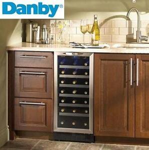 NEW DANBY 34 BOTTLE WINE COOLER - 115001493 - BEVERAGE REFRIGERATOR