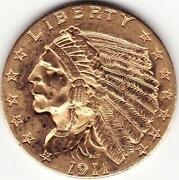 1911 Gold Indian Head