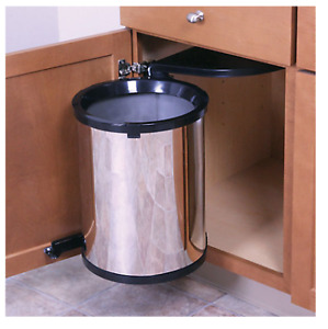 S.S/Chrome Pullout Waste Bin, Trashmaster