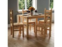 Corona 4-Seater Dining Table & Chairs | 5 Piece Dining Table Set