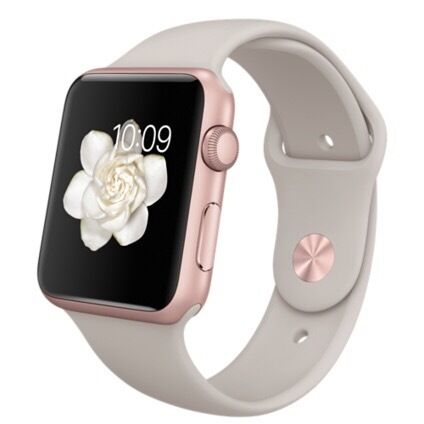 Apple Watch Sports Rose Gold 42mmin Hempstead, KentGumtree - Apple Watch 42mm rose gold aluminium case with stone colour strap. 5 months old with box, charger etc. Vgc. £200