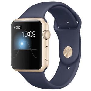 Apple Watch Sport 42mm Gold Aluminium Blue Sport Band MLC72ZPA - <span itemprop='availableAtOrFrom'>Hexham, United Kingdom</span> - Apple Watch Sport 42mm Gold Aluminium Blue Sport Band MLC72ZPA - Hexham, United Kingdom