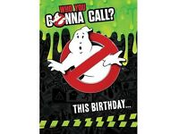 Ghost busters greeting card with sound
