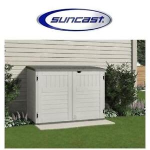 NEW* SUNCAST STOW AWAY STORAGE SHED BMS4700 200716159 BLOW MOLDED 3 ft. 8 in. x 5 ft. 11 in. RESIN HORIZONTAL STORAGE...
