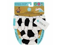 Charlie Banana Soccer Reusable Easy Snaps Swim Diaper, Large