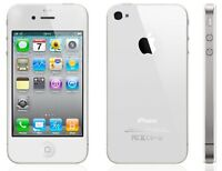 White iPhone 4s, 8 gb, Bell, no contract *BUY SECURE*
