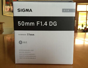 brand new sigma 50 1.4 ART prime for canon, sealed in box