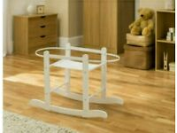 White Rocking moses basket stand. All brand new in sealed boxes. Fits all moses baskets.