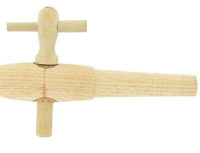 Hahn Holz Essigfläschchen Fasshahn n° 4 Zoll Durchmesser 1.5 cm Länge (Holz-essig)