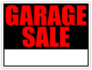GARAGE SALE- Rain or shine!