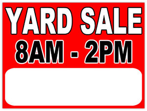 Yard Sale 8am- 2 pm
