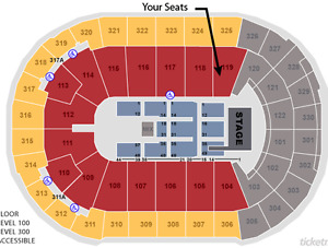 Depeche Mode - 2 pairs in section 119 - Right at the stage!
