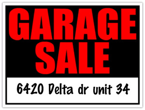RAIN DATE SUNDAY MAY 20TH - GARAGE SALE House Contents Sale