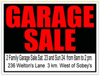 2 Family Garage/Yard sale May 23  AND  24