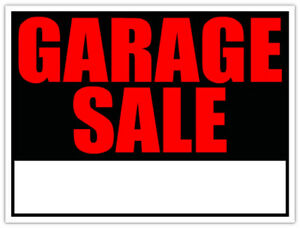 Garage Sale Aug 18th 8am to 2pm