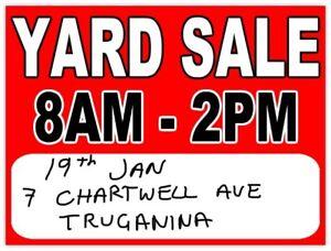 Huge Garage Sale 19th Jan 8am - 2 pm