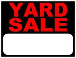 Huge Yard Sale 895 Central Ave 10am-3pm Sunday 10th