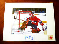 Patrick Roy Autographed Montreal Canadiens hockey 8x10 HOF Photo