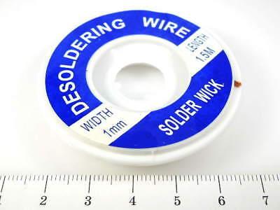 1.0 Mm .039 Desoldering Desoldador Wire Solder Iron Wick Copper Braid 5