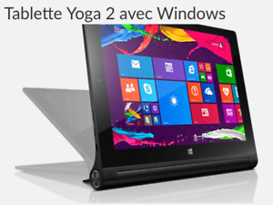 Tablette / Tablet Lenovo, 32Go, 10 po. Windows 10 avec clavier