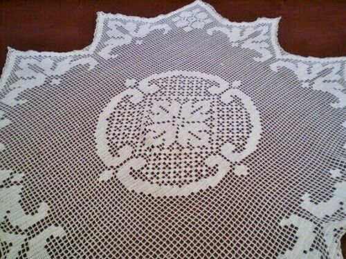 Rare  Amazing Vintage Handmade Lace Tablecloths
