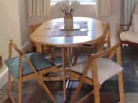 Light Oak Dining Table and Chairs