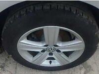 1X GENUINE VW GOLF S SE MATCH MK7 ALLOY WHEEL WITH TYRE