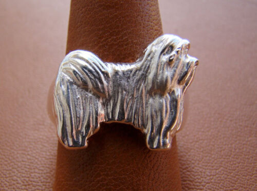 Sterling Silver Havanese Standing Study Ring