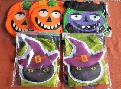 LOT OF 5 Halloween Party Decoration Hanging & Windsock - Halloween Windsock