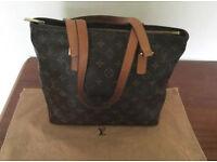 100% Genuine Authentic Louis Vuitton Medium Size Cabas Piano Monogram Shoulder Bag with Dust Bag