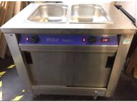 VICTOR BAIN MARIE/ HOT CUPBOARD/ PLATE WARMER ON WHEELS