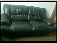 Dfs 3 piece leather sofa suite