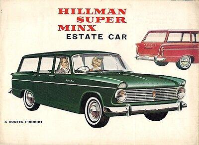 Hillman Super Minx Series II Estate 1963-64 UK Market Sales Brochure
