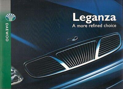 Daewoo Leganza 1999-2000 UK Market Sales Brochure 2.0 SX CDX CDX-E