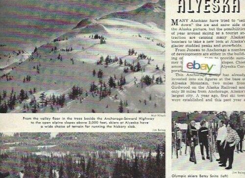 ALYESKA SKI RESORT GIRDWOOD ALASKA 2 PG 12/1960 ARTICLE OLYMPIC SKIERS