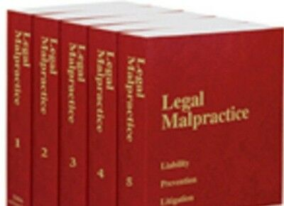 Legal Malpractice 2016 By Mallen  5 Volume Paperback  Thomson Reuters