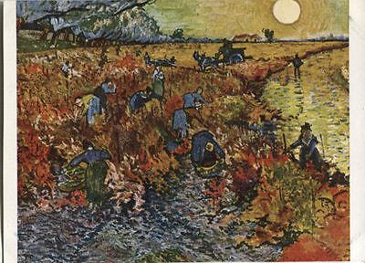 Alte Kunstpostkarte - Vincent van Gogh - Rote Weinberge